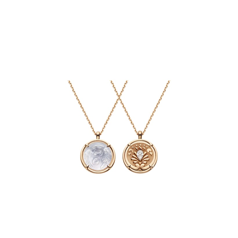 Légende de Chaumet mother-of-pearl and diamond small model pendant - Pink Gold - Chaumet