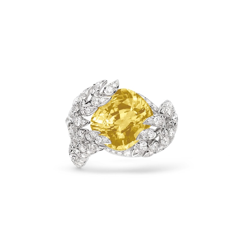 Offrandes' yellow sapphire ring - White Gold - Chaumet