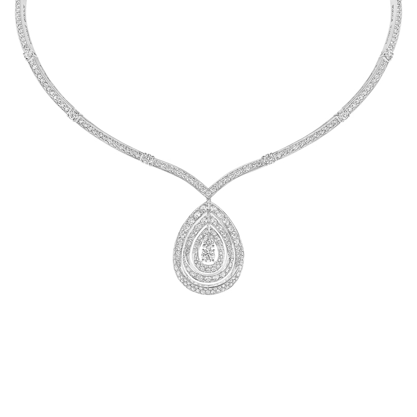 "Joséphine ""Rondes de nuit"" necklace - White Gold - Chaumet"