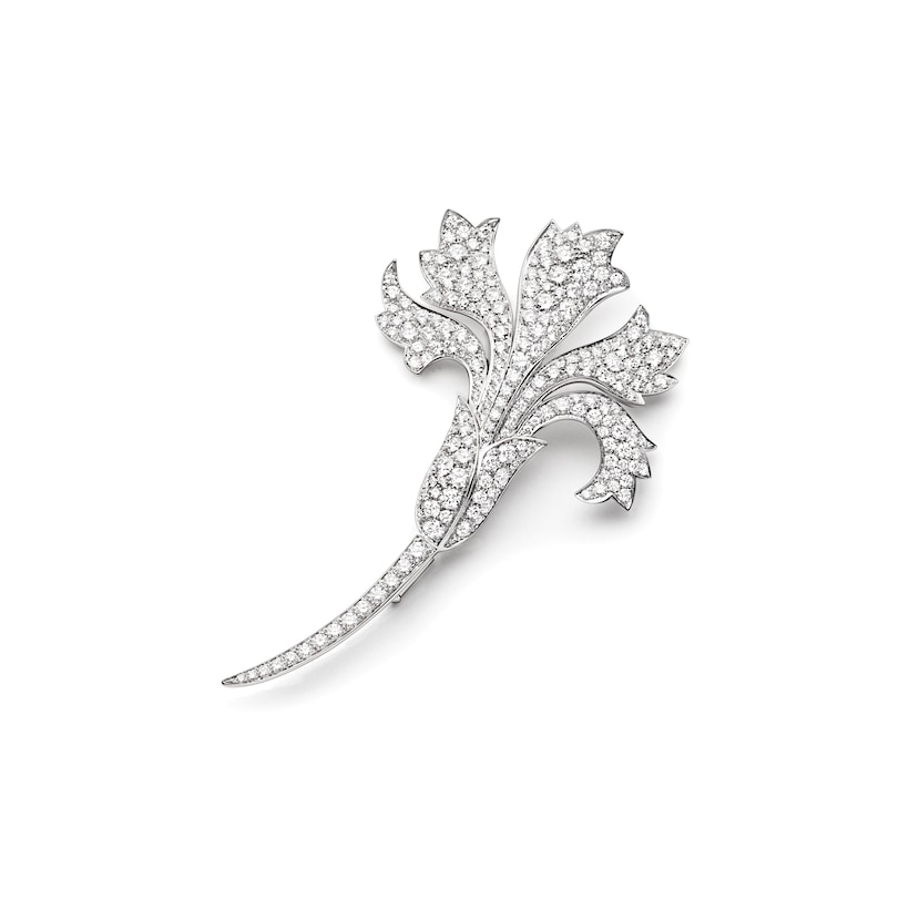 Œillet brooch - White Gold - Chaumet