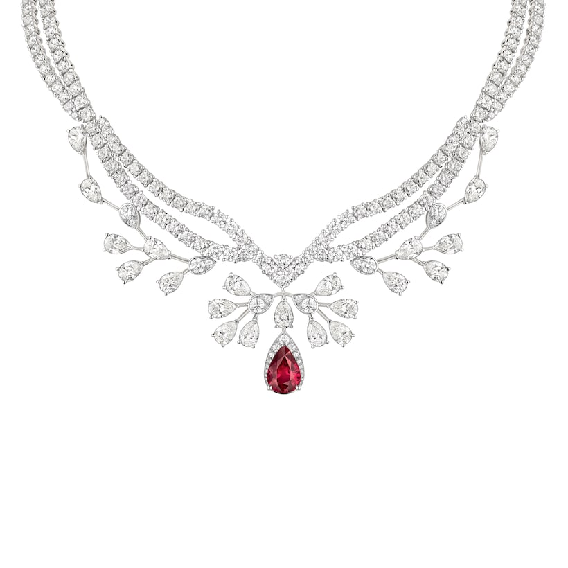 Joséphine Aigrette Impériale ネックレス - ホワイトゴールド - Chaumet